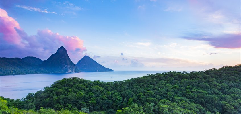 <p>Pitons from Jade Mountain Resort, Saint Lucia</p><p>http://www.alamy.com/mediacomp/imagedetails.aspx?ref=H2TF38</p>